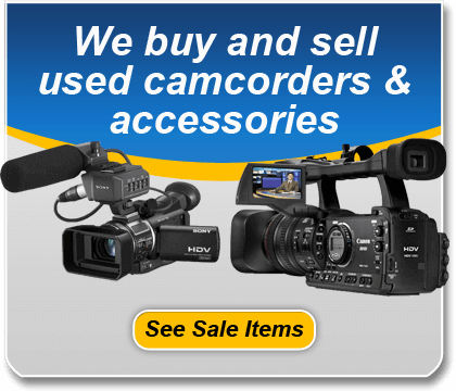 2013 We buy and sell used camcorders and accessories banner ad