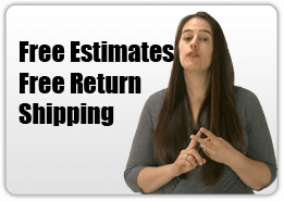We offer free estimates and free return shipping. After we receive your camcorder in for repair one of our expert repair technicians will contact you with a free estimate and diagnoses.