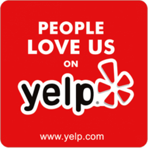 People Love us on Yelp button