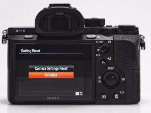 Sony Alpha Camera Reset Screen