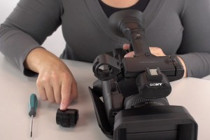 Mic Holder Broken Sony Camcorder – Step By Step Replacement Instructions