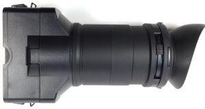 sony nex-fs100 viewfinder side view